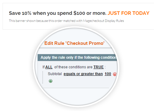 one step checkout module Promotion